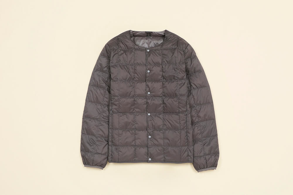 TAION<br>Crew Neck Button Down Jacket