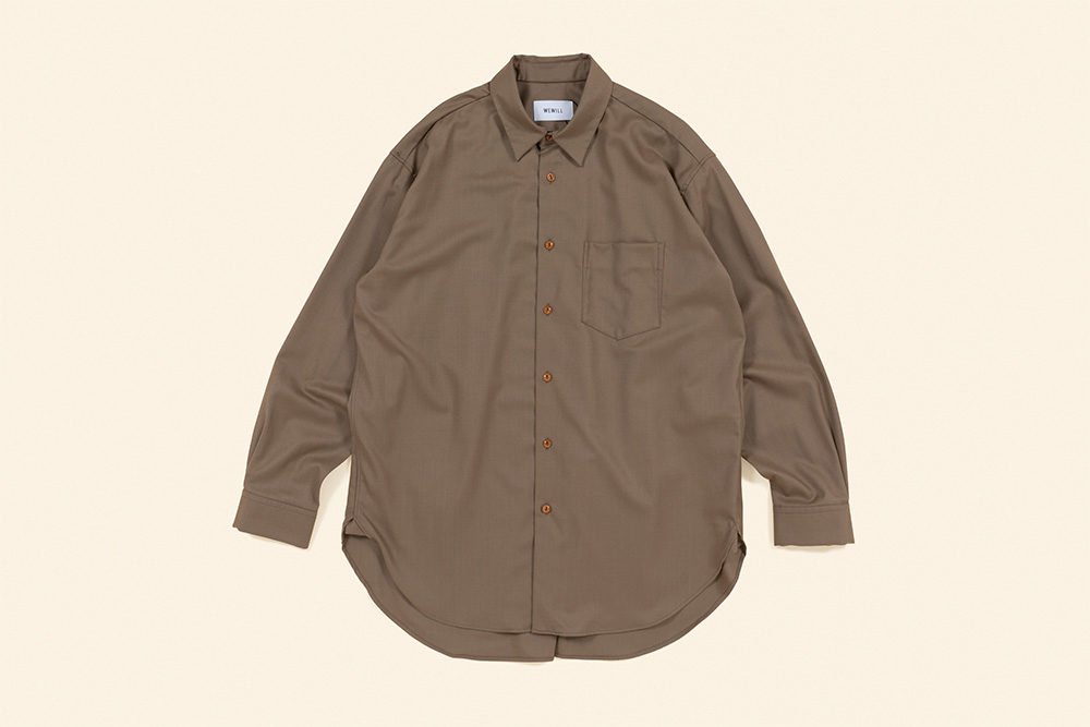 WEWILL<br>Wool Long Tail Shirt