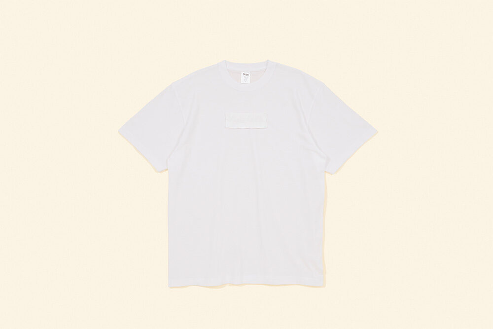 FACETASM×Dogs <br>Embroidered tape T-shirt